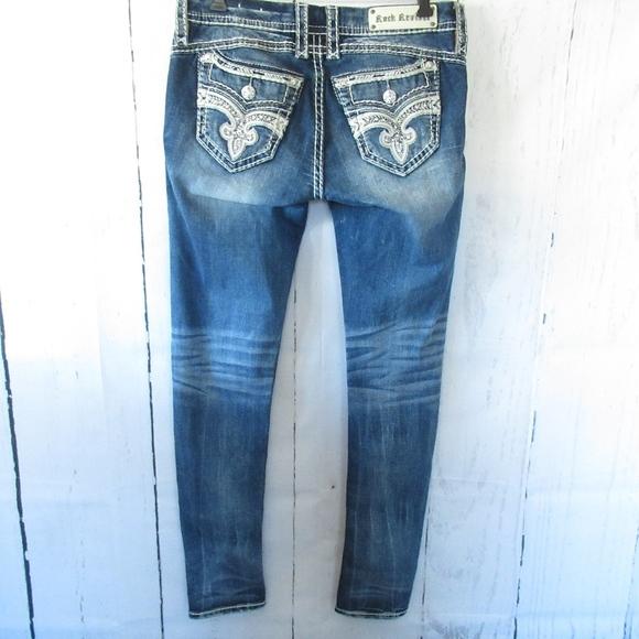 Rock Revival Denim - *SOLD* Rock Revival Skinny Jeans Yeon Faux Flap